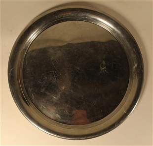 Cartier Pewter Tray Plate