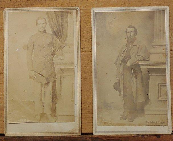 TWO CIVIL WAR SOLDIERS BY WHITEHURST, PERHAPS N.J.