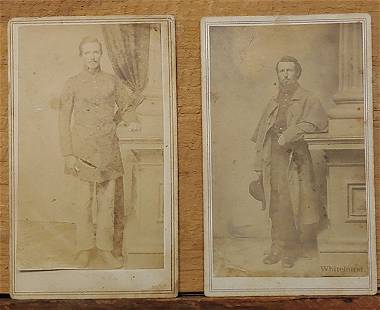 TWO CIVIL WAR SOLDIERS BY WHITEHURST PERHAPS NJ