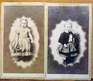 FOUR WONDERFUL CDV PHOTOS OF CHILDREN, NEW JERSEY