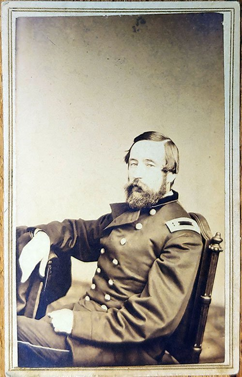 SIGNED CDV LT. COL. ARTHUR CHARLES DUCAT 12th ILLINOIS