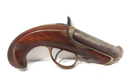 SCARCE 1866 SCROLL ENGRAVED WILLIAMSON DERRINGER