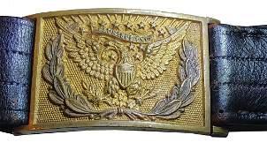 Officers Pistol Belt & Eagle Buckle