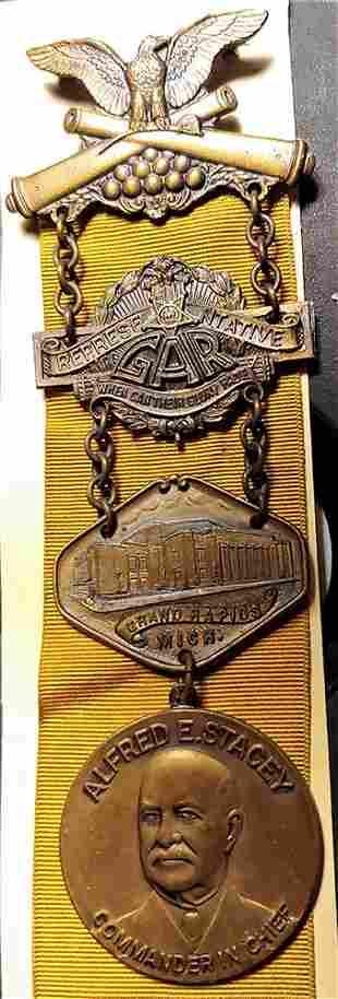 Civil War GAR National Encampment Badge 1935