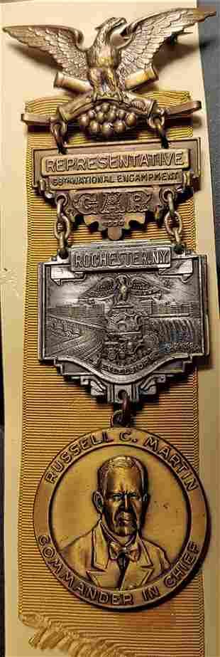 Civil War GAR National Encampment Badge 1934