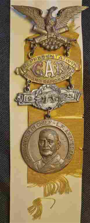Civil War GAR National Encampment Badge 1925