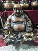 Large gilt bronze buddha statue