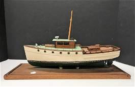 Vintage Wooden Ships Model