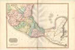 MAP - Mexico, Belize & Guatemala. Pinkerton