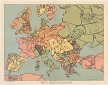 MAP - Europe, World War I. Raemaekers