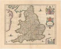 MAP - England & Wales. Blaeu