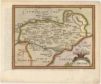 MAP - Eastern Ireland. Mercator/Hondius