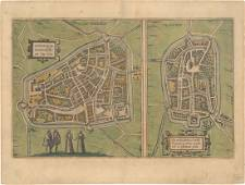 MAP - Leeuwarden, Netherlands. Braun & Hogenberg