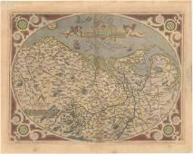 MAP - Low Countries. Ortelius