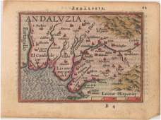 MAP - Southern Spain. Ortelius/Galle