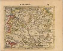 MAP - Hungary. Mercator/Hondius
