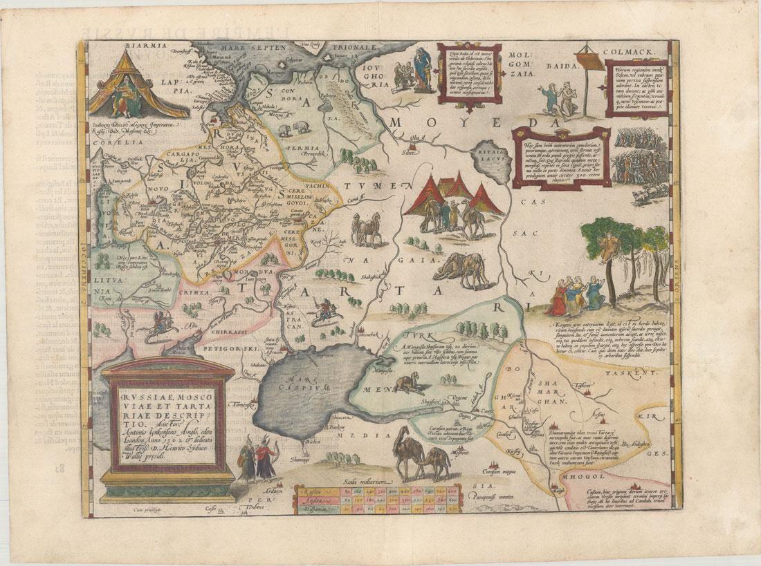 MAP - Russia, Eastern Europe. Ortelius