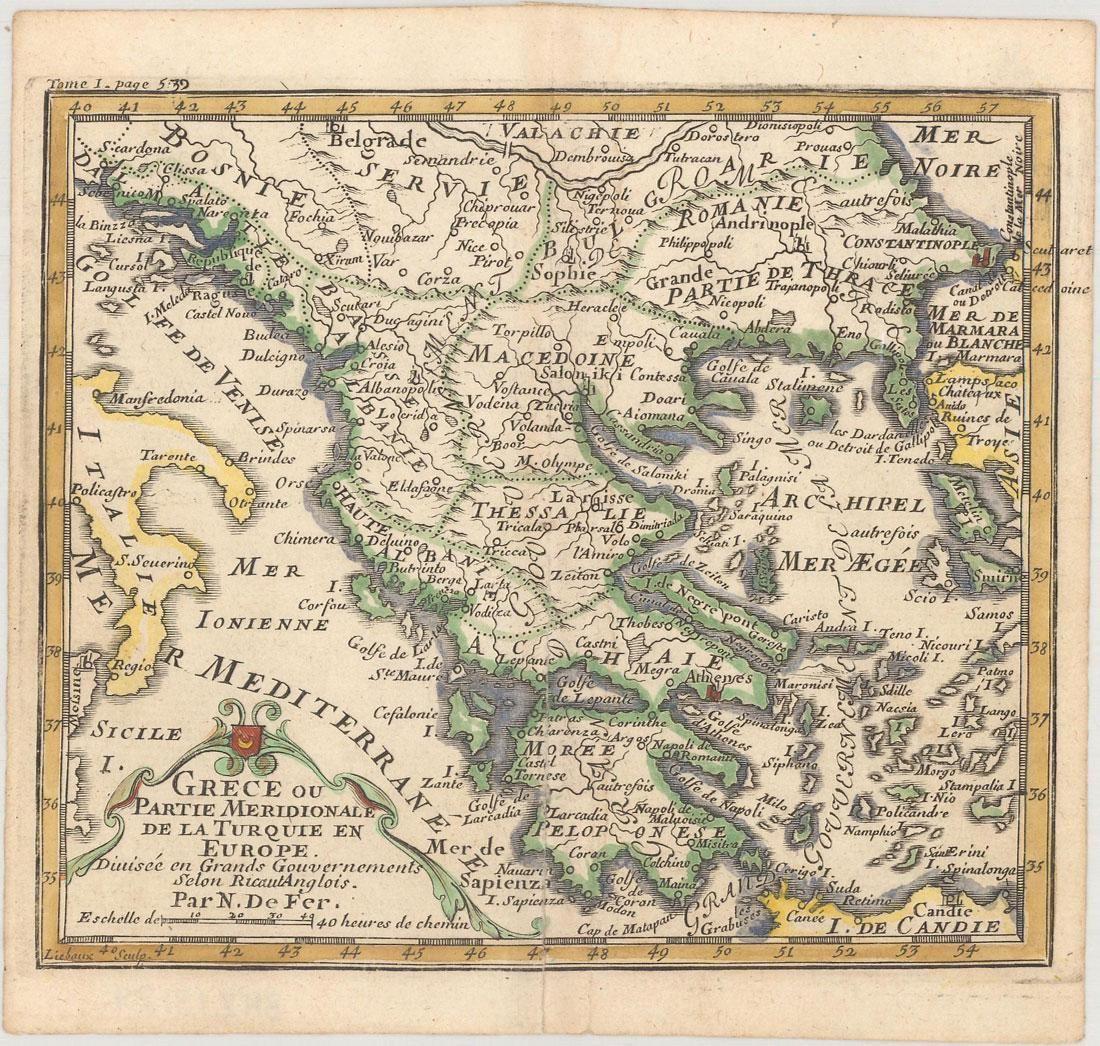 MAP - Greece. De Fer