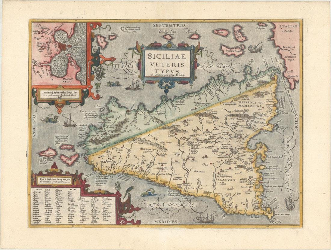 MAP - Sicily, Italy  Ortelius - Mar 16, 2019 | Old World Auctions in VA