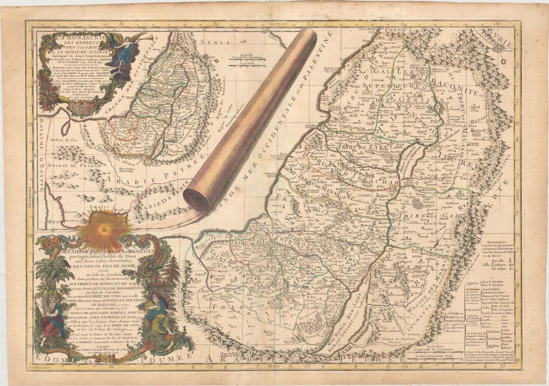 MAP - Holy Land. Robert de Vaugondy