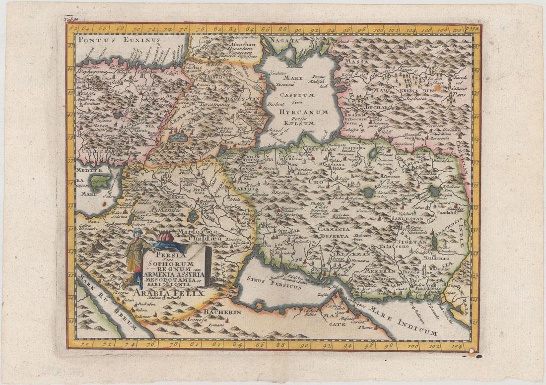 MAP - Persia - Iran. Cluver