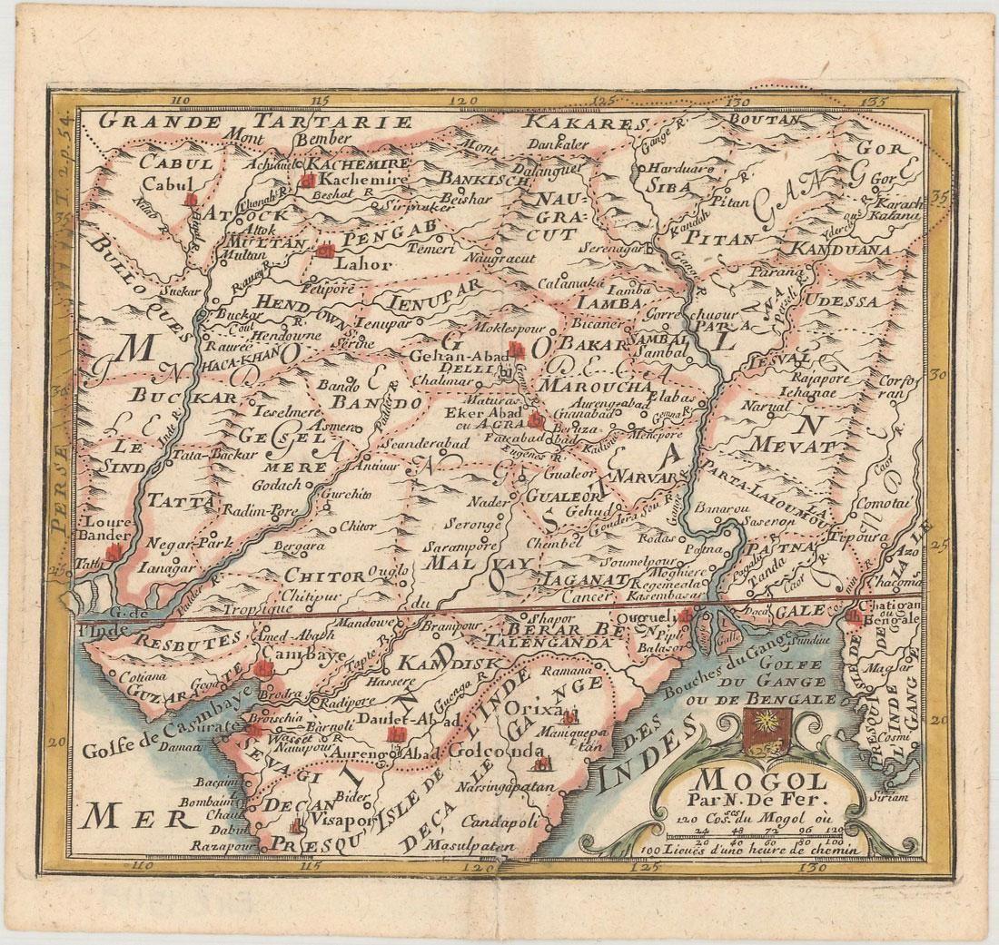 MAP - Southern Asia. De Fer