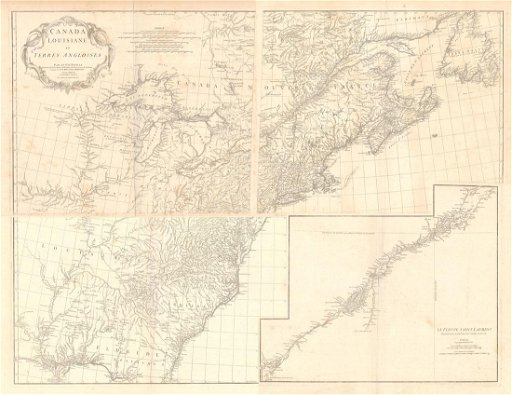 MAP - Eastern US & Canada. D\'Anville - Jun 01, 2019   Old ...