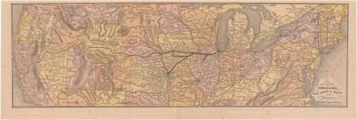 MAPS - Western US, Railroads. Rand McNally