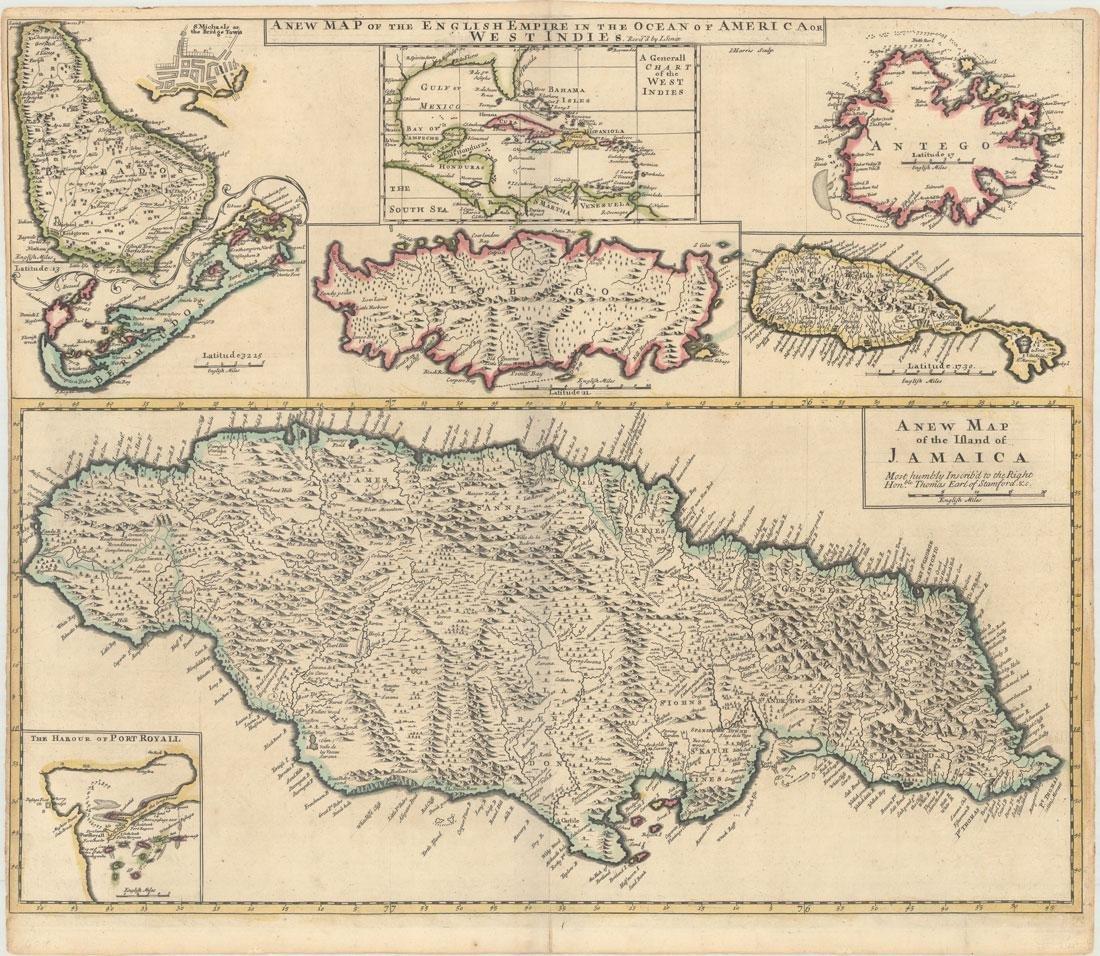 MAP - Caribbean. Browne/Senex