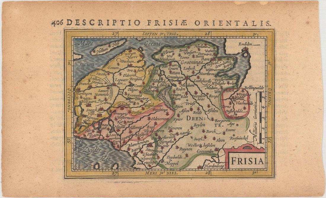 MAP - Northern Netherlands. Bertius