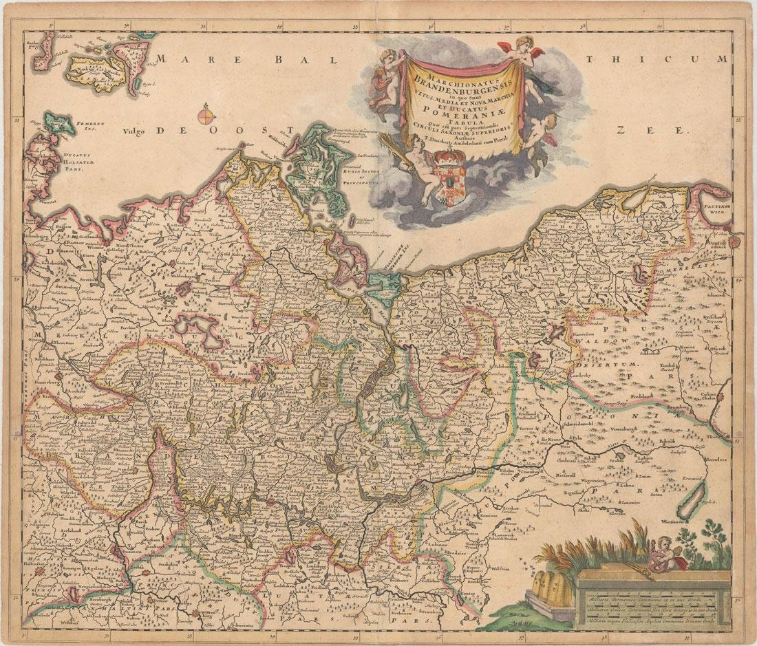 MAP - Germany & Poland. Danckerts
