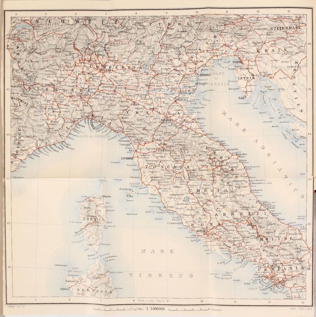 MAPS IN BOOK - Italy. Baedeker
