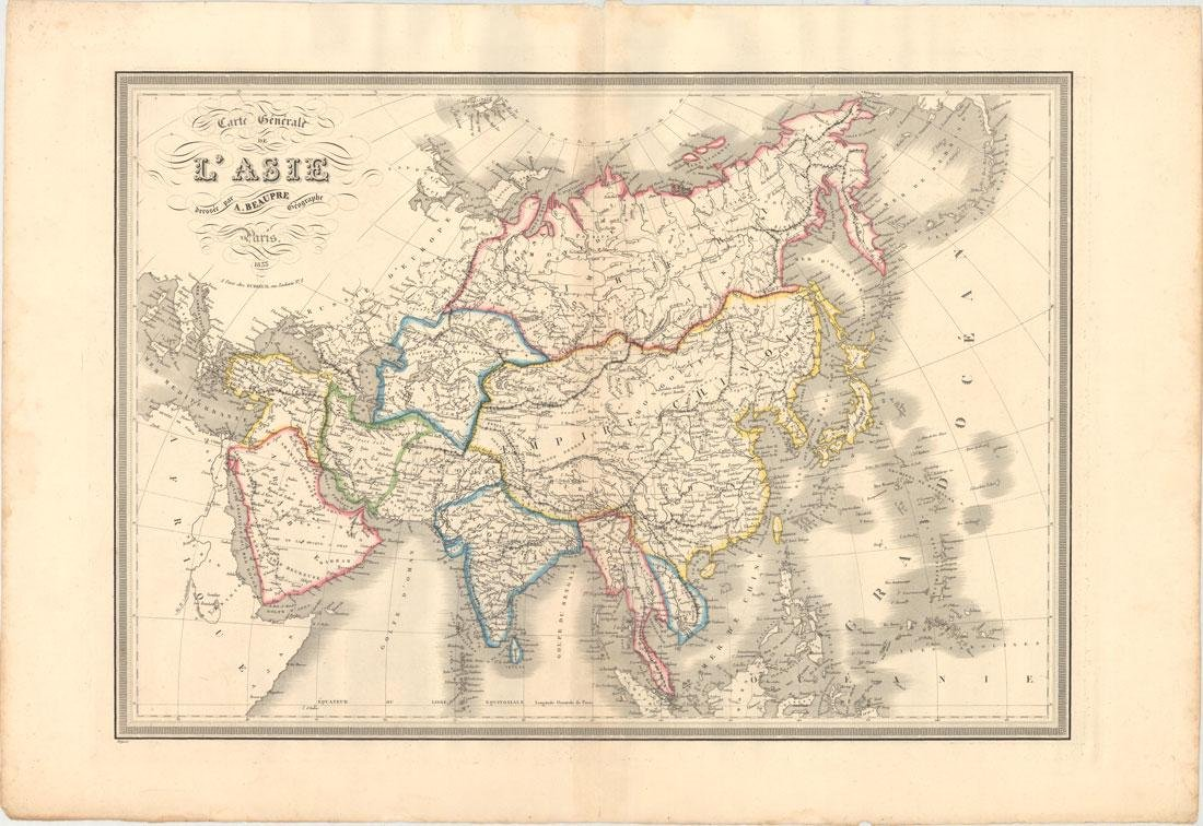 MAP - Asia. Beaupre