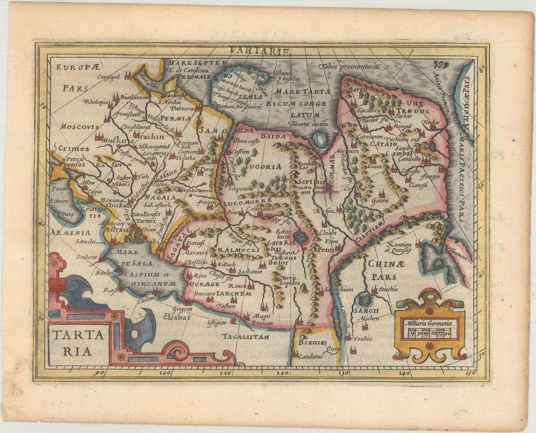 MAP - Northern Asia. Mercator