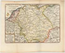 MAP - Central Europe, Germany. De Fer