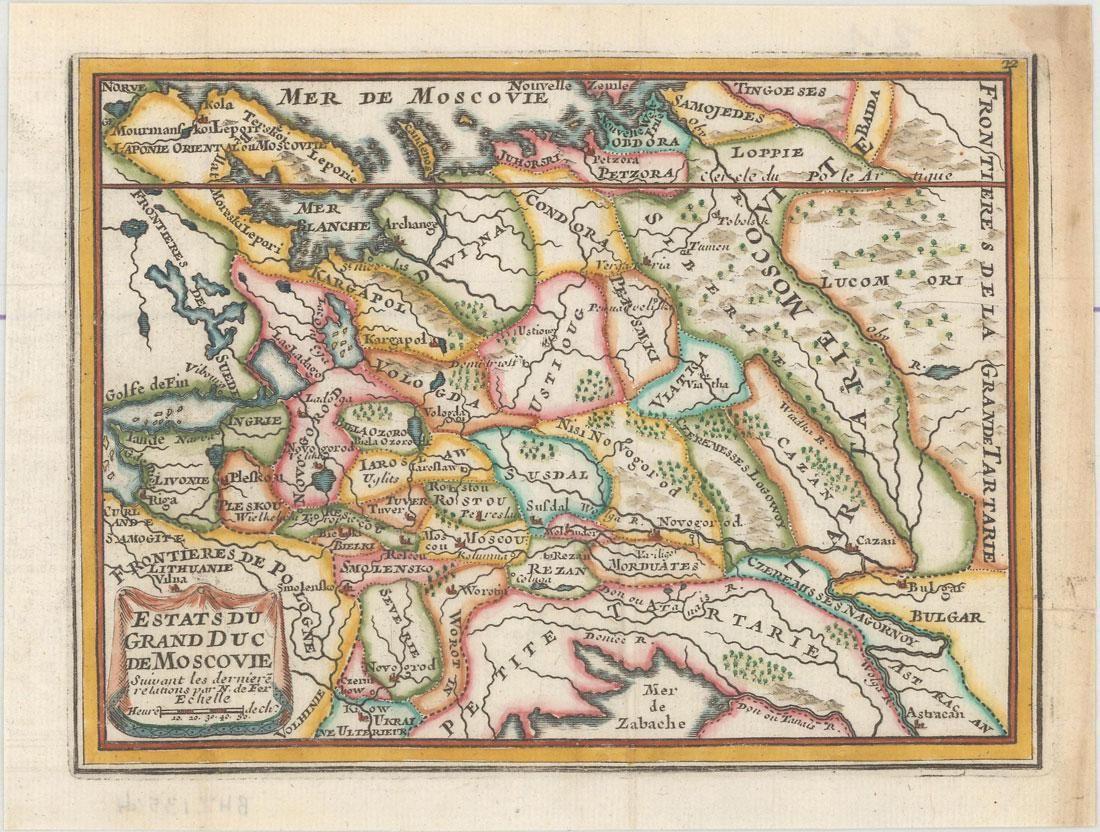 MAP - Russia in Europe. De Fer