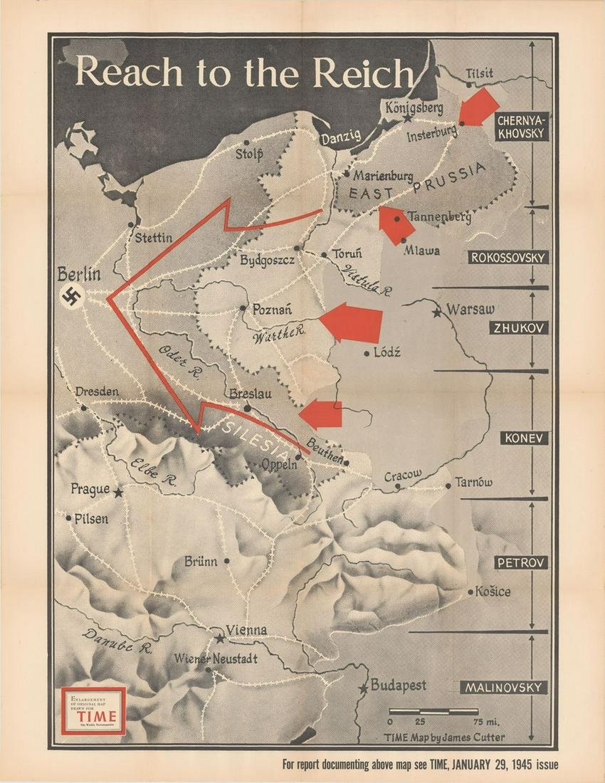 MAP, Central Europe, WWII, Cutter