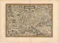 MAP Romania  Hungary Ortelius