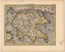 MAP Southern Greece Mercator