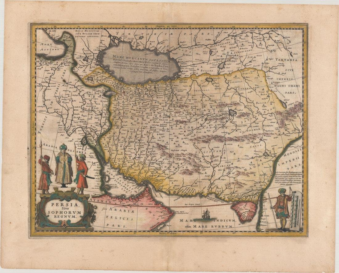 MAP, Persia - Iran, Jansson