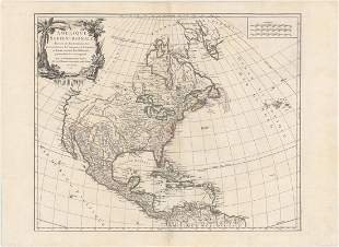 MAP, North America, Robert de Vaugondy