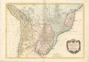 MAP, Central South America, D'Anville