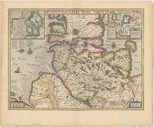 MAP, Northern Germany, Hondius