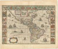 MAP, Western Hemisphere, Blaeu