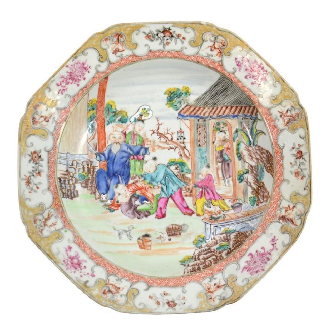 A Chinese famille rose dish, Qianlong, circa 1750,