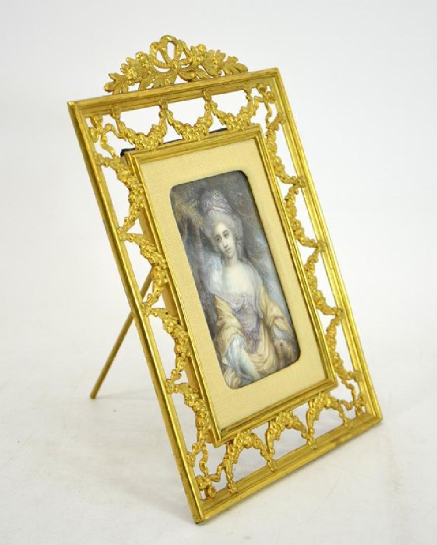 A 19th century French portrait miniature, depicting a - 3