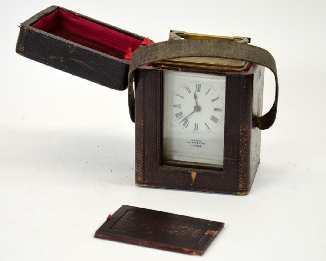 A Mappin and Webb gilt brass carriage timepiece, in - 2