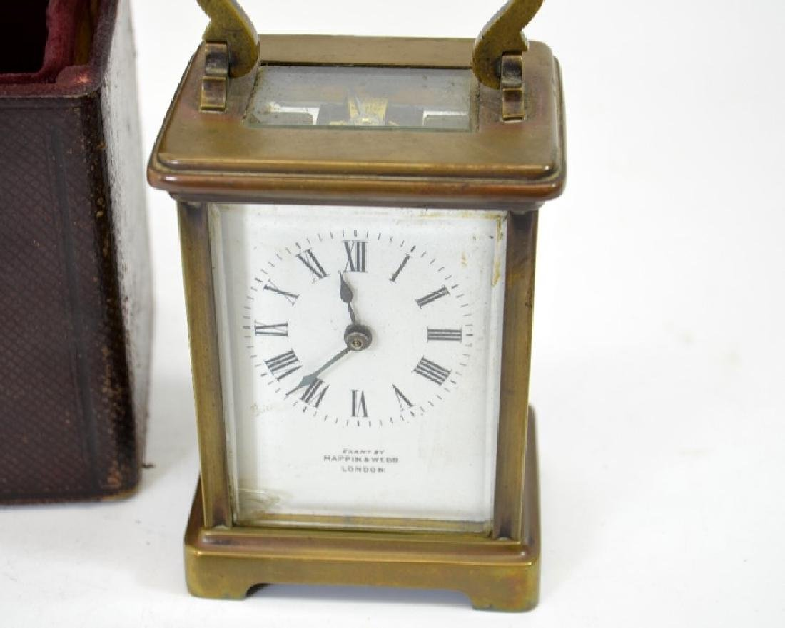 A Mappin and Webb gilt brass carriage timepiece, in - 3