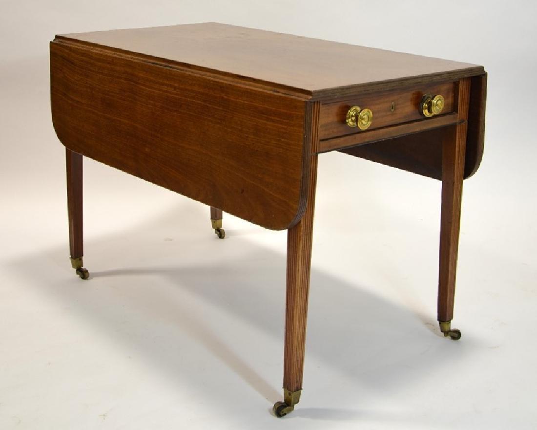 A George III mahogany Pembroke table, circa 1800, - 2