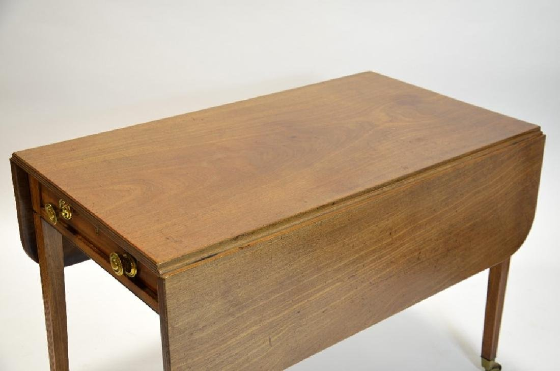 A George III mahogany Pembroke table, circa 1800, - 4